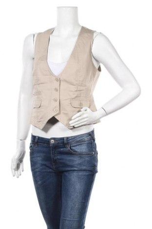 Дамски елек S.Oliver, Размер M, Цвят Бежов, 98% памук, 2% еластан, Цена 5,59лв.