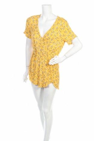 Дамски гащеризон H&M Divided, Размер XL, Цвят Жълт, 100% вискоза, Цена 18,95лв.