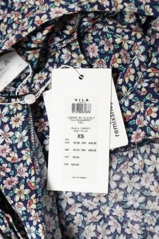 Дамски гащеризон Vila, Размер XS, Цвят Многоцветен, Вискоза, Цена 30,02лв.