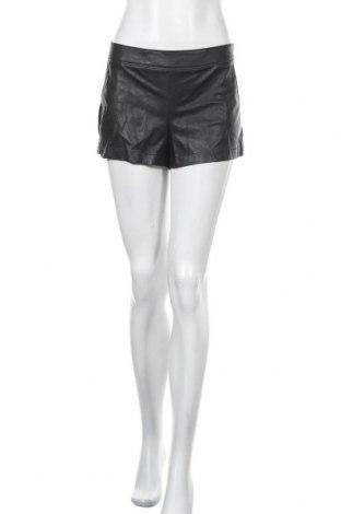 Дамски къс кожен панталон, Размер M, Цвят Черен, Еко кожа, Цена 16,38лв.