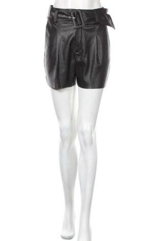 Дамски къс кожен панталон Pimkie, Размер S, Цвят Черен, Еко кожа, Цена 17,01лв.