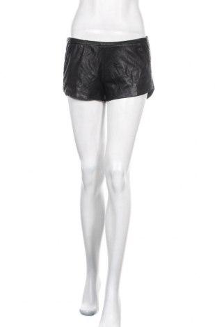 Дамски къс кожен панталон Zara Trafaluc, Размер XS, Цвят Черен, Еко кожа, Цена 15,12лв.