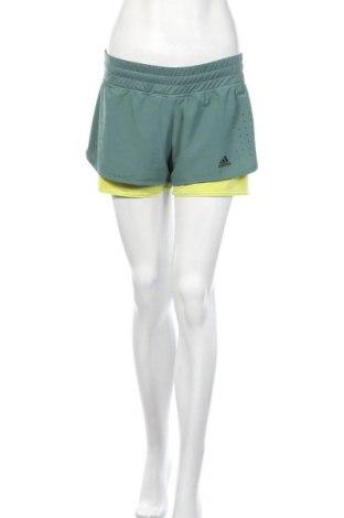 Γυναικείο κοντό παντελόνι Adidas, Μέγεθος M, Χρώμα Πράσινο, 86% πολυεστέρας, 14% ελαστάνη, Τιμή 22,08€