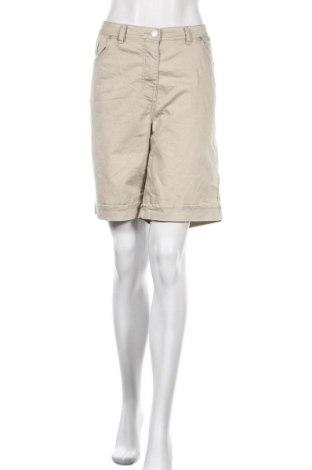Γυναικείο κοντό παντελόνι Andrea, Μέγεθος XL, Χρώμα  Μπέζ, 82% βαμβάκι, 15% πολυεστέρας, 3% ελαστάνη, Τιμή 9,55€