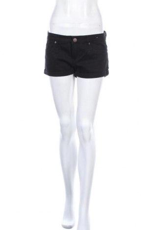 Дамски къс панталон Denim&Co., Размер M, Цвят Черен, 99% памук, 1% еластан, Цена 9,82лв.