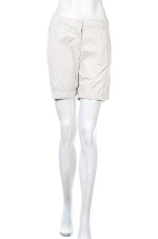 Γυναικείο κοντό παντελόνι H&M, Μέγεθος XL, Χρώμα  Μπέζ, 97% βαμβάκι, 3% ελαστάνη, Τιμή 5,36€