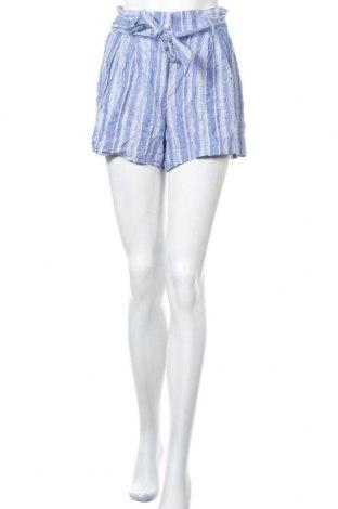 Γυναικείο κοντό παντελόνι H&M, Μέγεθος S, Χρώμα Μπλέ, 95% λινό, 5% βισκόζη, Τιμή 3,86€