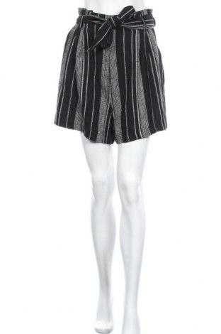 Γυναικείο κοντό παντελόνι H&M, Μέγεθος M, Χρώμα Μαύρο, 55% λινό, 45% βισκόζη, Τιμή 9,87€
