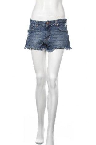 Γυναικείο κοντό παντελόνι H&M, Μέγεθος M, Χρώμα Μπλέ, 99% βαμβάκι, 1% ελαστάνη, Τιμή 8,64€
