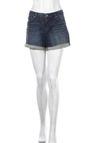 Дамски къс панталон H&M L.O.G.G., Размер XL, Цвят Син, 99% памук, 1% еластан, Цена 16,96лв.