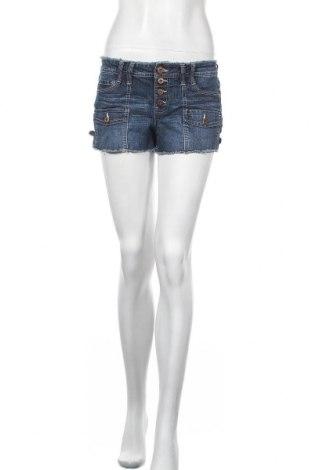 Γυναικείο κοντό παντελόνι L.e.i., Μέγεθος M, Χρώμα Μπλέ, 56% ραμί, 25% βαμβάκι, 18% πολυεστέρας, 1% ελαστάνη, Τιμή 4,09€