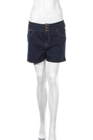 Γυναικείο κοντό παντελόνι Liquid, Μέγεθος L, Χρώμα Μπλέ, 75% βαμβάκι, 23% πολυεστέρας, 2% ελαστάνη, Τιμή 9,71€