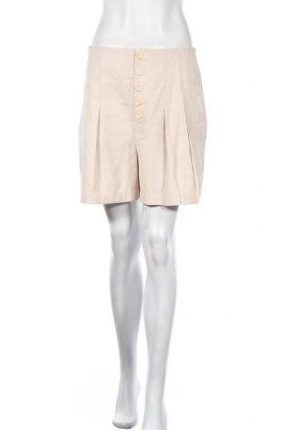 Γυναικείο κοντό παντελόνι Mango, Μέγεθος M, Χρώμα  Μπέζ, 91% βισκόζη, 9% πολυεστέρας, Τιμή 9,35€