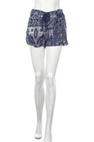 Дамски къс панталон Oysho, Размер M, Цвят Син, 55% лен, 45% вискоза, Цена 28,42лв.