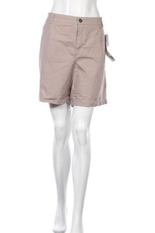 Γυναικείο κοντό παντελόνι Yessica, Μέγεθος XL, Χρώμα  Μπέζ, Βαμβάκι, Τιμή 18,22€