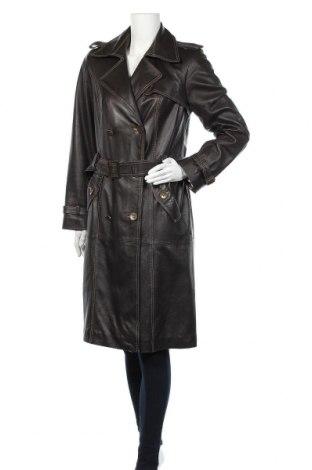 Дамски кожен шлифер, Размер M, Цвят Кафяв, Естествена кожа, Цена 82,95лв.