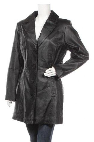 Дамски кожен шлифер 5th Avenue, Размер L, Цвят Черен, Естествена кожа, Цена 25,73лв.