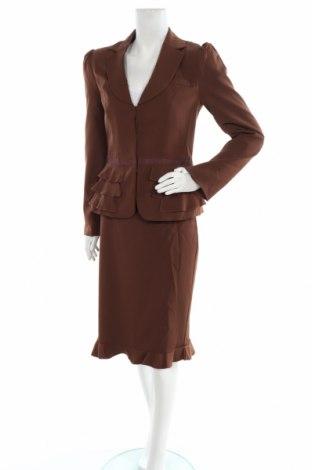Дамски костюм Bpc Bonprix Collection, Размер M, Цвят Кафяв, 97% полиестер, 3% еластан, Цена 55,86лв.