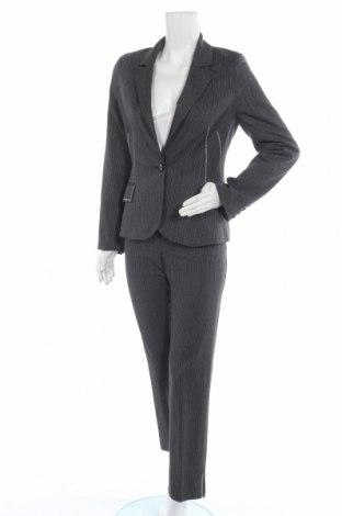 Дамски костюм Imitz, Размер S, Цвят Сив, 67% вискоза, 28% полиестер, 4% еластан, 1% метални нишки, Цена 34,81лв.