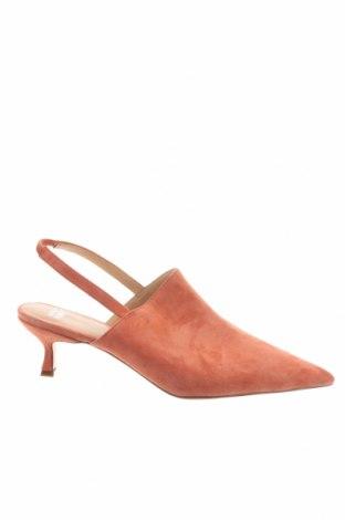 Дамски обувки Anny Nord, Размер 41, Цвят Оранжев, Естествен велур, Цена 145,32лв.