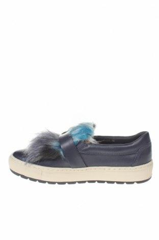 Γυναικεία παπούτσια Geox, Μέγεθος 35, Χρώμα Μπλέ, Γνήσιο δέρμα, κλωστοϋφαντουργικά προϊόντα, Τιμή 31,61€