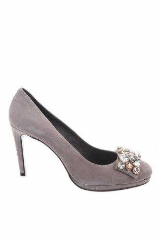 Дамски обувки Helia, Размер 42, Цвят Сив, Естествен велур, Цена 38,70лв.