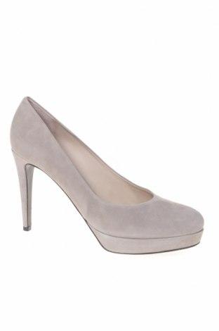 Γυναικεία παπούτσια Kennel & Schmenger, Μέγεθος 41, Χρώμα Γκρί, Φυσικό σουέτ, Τιμή 24,64€