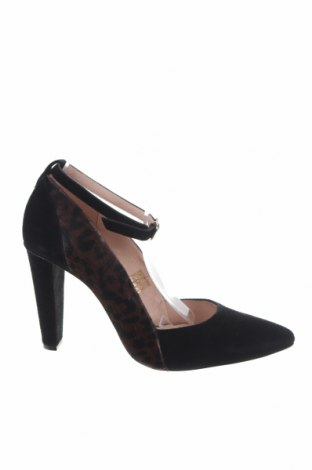Дамски обувки Kiomi, Размер 41, Цвят Черен, Естествен велур, естествен косъм, Цена 35,41лв.