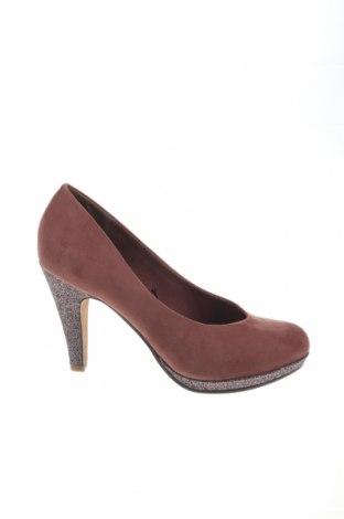 Γυναικεία παπούτσια Marco Tozzi, Μέγεθος 39, Χρώμα Σάπιο μήλο, Κλωστοϋφαντουργικά προϊόντα, Τιμή 31,96€