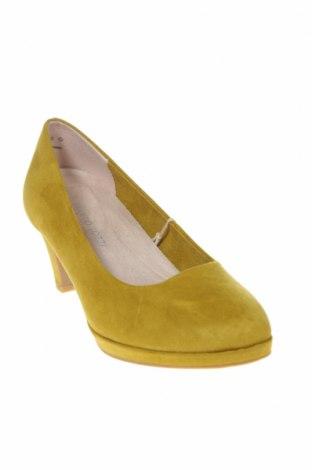 Γυναικεία παπούτσια Marco Tozzi, Μέγεθος 38, Χρώμα Πράσινο, Κλωστοϋφαντουργικά προϊόντα, Τιμή 17,43€