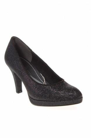 Дамски обувки Marco Tozzi, Размер 36, Цвят Черен, Текстил, Цена 26,78лв.