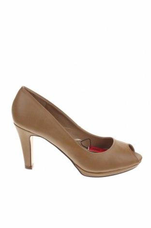 Дамски обувки Maria Mare, Размер 39, Цвят Бежов, Еко кожа, Цена 32,43лв.