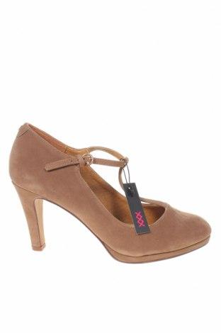 Дамски обувки Maria Mare, Размер 39, Цвят Бежов, Текстил, Цена 33,12лв.