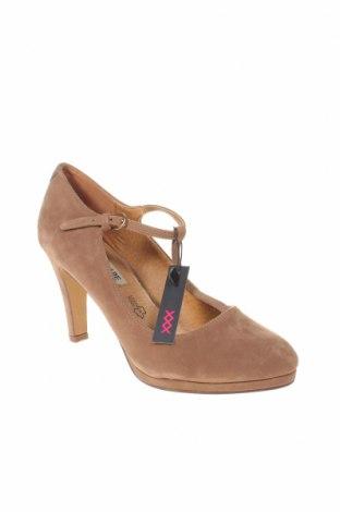 Γυναικεία παπούτσια Maria Mare, Μέγεθος 39, Χρώμα  Μπέζ, Κλωστοϋφαντουργικά προϊόντα, Τιμή 11,74€