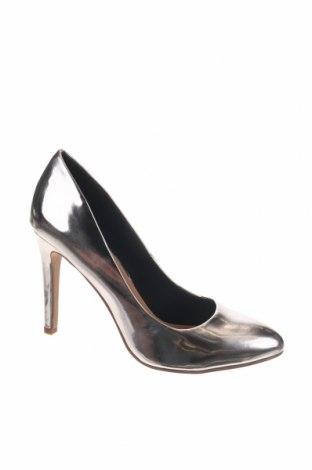Γυναικεία παπούτσια ONLY, Μέγεθος 38, Χρώμα Ασημί, Δερματίνη, Τιμή 10,67€