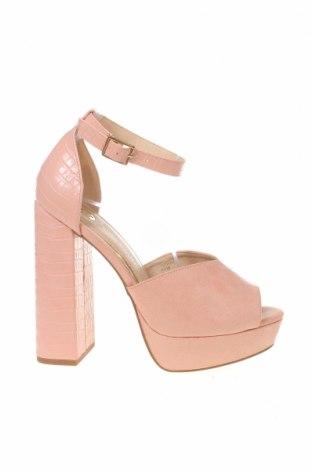 Дамски обувки River Island, Размер 40, Цвят Розов, Текстил, еко кожа, Цена 53,10лв.