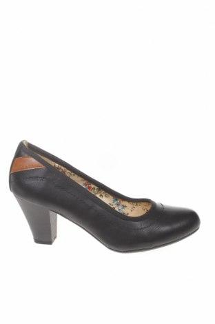 Γυναικεία παπούτσια Tom Tailor, Μέγεθος 36, Χρώμα Μαύρο, Δερματίνη, Τιμή 38,27€