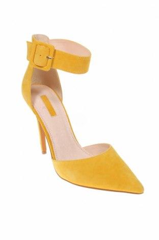 Γυναικεία παπούτσια Topshop, Μέγεθος 40, Χρώμα Κίτρινο, Φυσικό σουέτ, Τιμή 23,27€