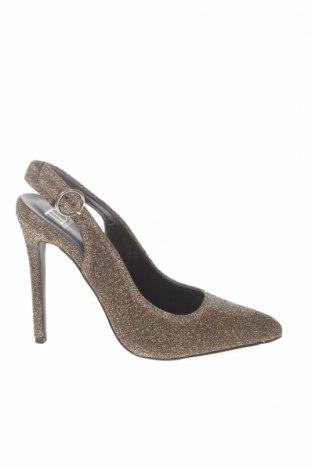 Дамски обувки True Decadence, Размер 37, Цвят Златист, Текстил, Цена 37,80лв.