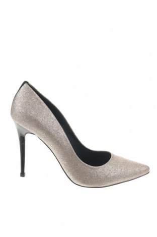 Дамски обувки Versace Jeans, Размер 39, Цвят Златист, Еко кожа, Цена 139,75лв.
