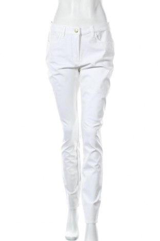 Дамски панталон Blu, Размер M, Цвят Бял, 52% памук, 41% вискоза, 7% еластан, Цена 12,76лв.