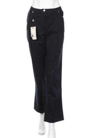 Дамски панталон Elena Miro, Размер L, Цвят Син, 98% памук, 2% еластан, Цена 29,93лв.