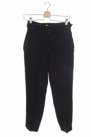 Дамски панталон H&M, Размер XS, Цвят Черен, Полиестер, Цена 27,41лв.