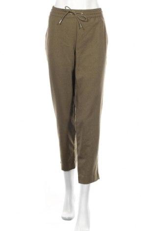 Дамски панталон H&M L.O.G.G., Размер XL, Цвят Зелен, Полиестер, Цена 18,00лв.