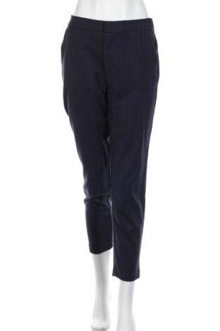Дамски панталон H&M L.O.G.G., Размер M, Цвят Син, 69% полиестер, 30% вискоза, 1% еластан, Цена 10,10лв.