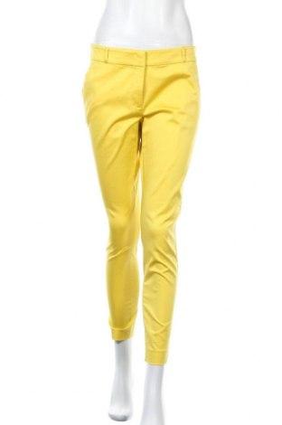 Γυναικείο παντελόνι Hallhuber, Μέγεθος M, Χρώμα Κίτρινο, 65% βαμβάκι, 32% πολυαμίδη, 3% ελαστάνη, Τιμή 18,51€