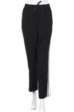 Дамски панталон Hallhuber, Размер L, Цвят Черен, 97% полиестер, 3% еластан, Цена 14,81лв.