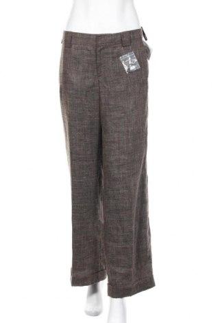 Дамски панталон In Wear, Размер M, Цвят Кафяв, 67% полиестер, 33% лен, Цена 8,53лв.