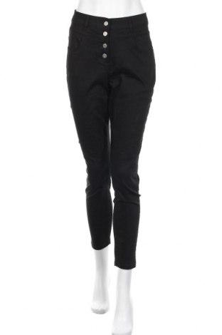 Дамски панталон Lascana, Размер M, Цвят Черен, 66% памук, 31% полиестер, 3% еластан, Цена 21,12лв.