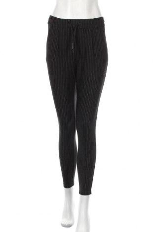 Дамски панталон Noisy May, Размер S, Цвят Черен, 63% вискоза, 32% полиамид, 5% еластан, Цена 12,29лв.